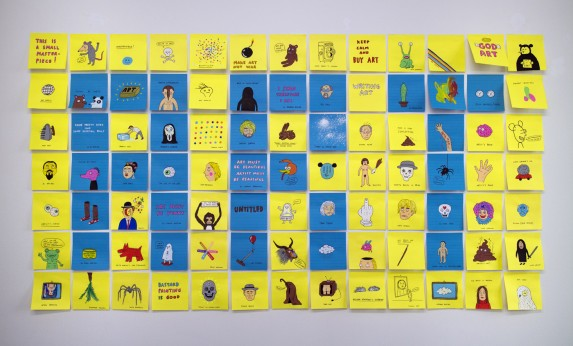 Laurina Paperina, Art, tecnica mista su carta post-it, cm 150x90, 2014