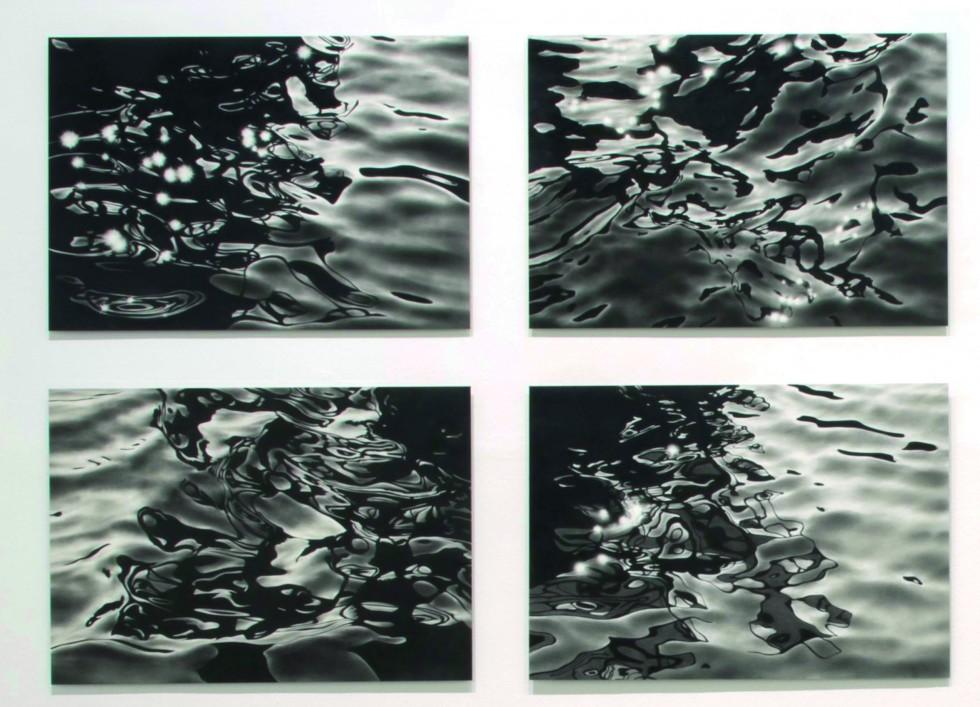Serse Roma, A fior d'acqua, grafite su alluminio, 100 x 142 cm, Caduno, 2014. Courtesy Galleria Continua San Gimignano, Beijing, Les Moulins