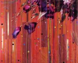 Dany Vescovi Senza titolo (campo 4) 120 x 150 su lino 2015