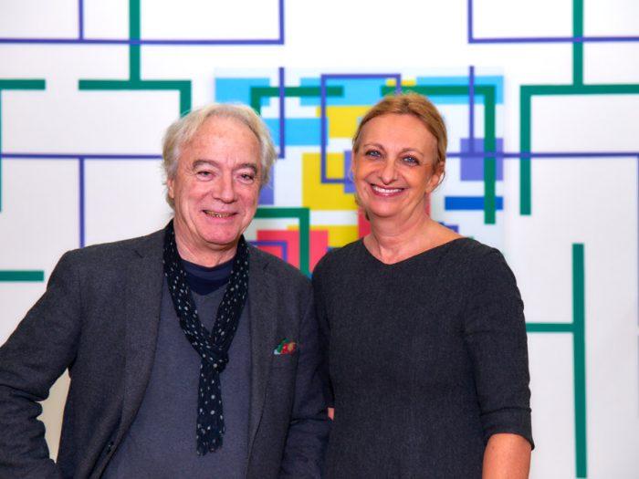Iler Melioli e Maria Yvonne Pugliese nella Project Room della mostra RES EXTENSA